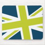 Union Flag Mousepad (Navy/Lime)