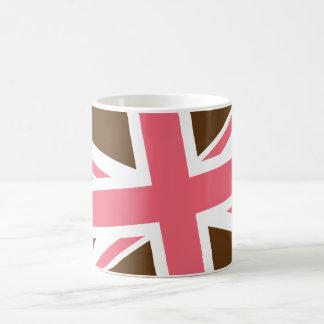 Union Flag Mug (Brown/Pink)