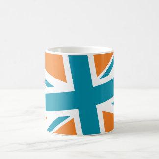 Union Flag Mug (Orange/Teal)