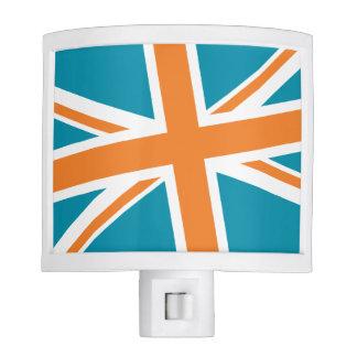 Union Flag Night Light (Teal/Orange)