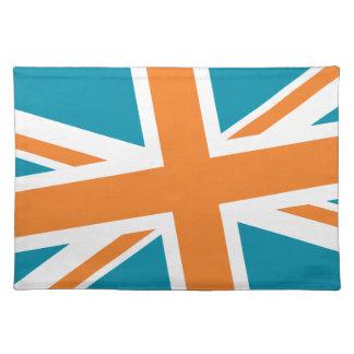Union Flag Placemat (Teal/Orange)