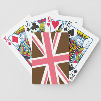 Union Flag Playing Cards (Brown/Pink)