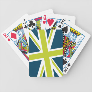 Union Flag Playing Cards (Navy/Lime)