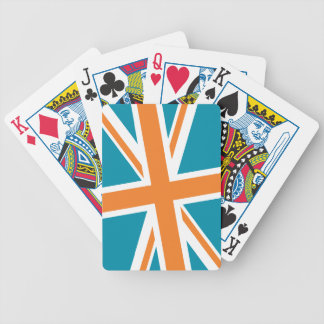 Union Flag Playing Cards (Teal/Orange)