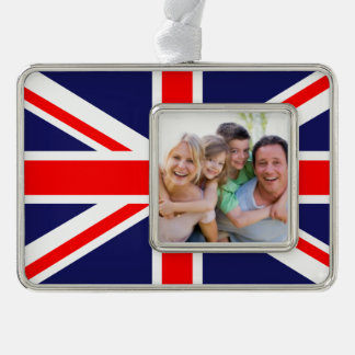 Union Flag Silver Plated Framed Ornament