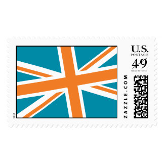 Union Flag Stamps — Large (Teal/Orange)