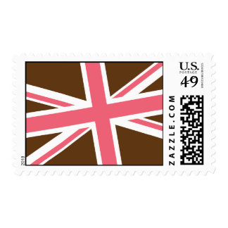 Union Flag Stamps — Medium (Brown/Pink)
