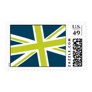 Union Flag Stamps — Medium (Navy/Lime)