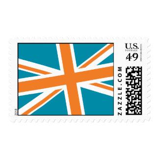 Union Flag Stamps — Medium (Teal/Orange)