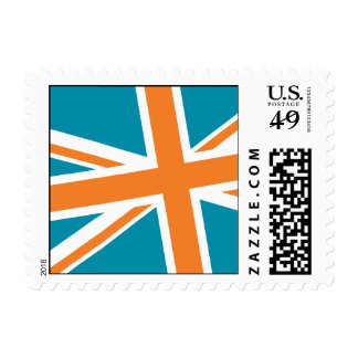 Union Flag Stamps — Small (Teal/Orange)