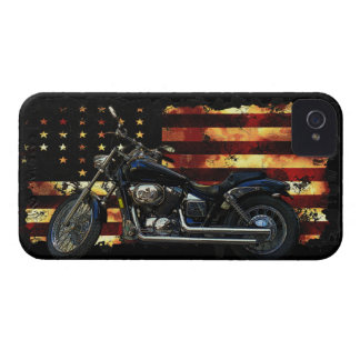 Union Flag, Stars and Stripes, Motorcycle, Hog iPhone 4 Case-Mate Case