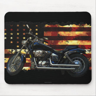Union Flag, Stars and Stripes, Motorcycle Mouse Pad