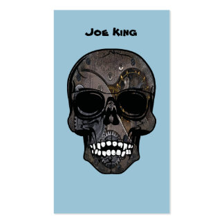 Union Flag Steampunk Skull Business Card