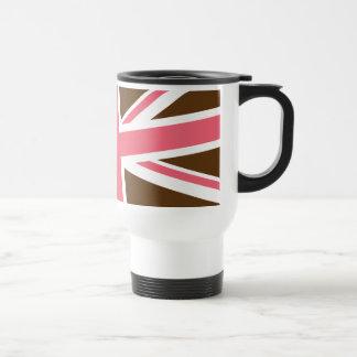 Union Flag Travel Mug (Brown/Pink)