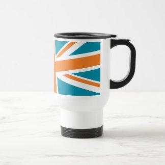 Union Flag Travel Mug (Teal/Orange)