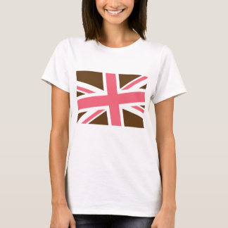 Union Flag Women's Shirt (Brown/Pink) CUSTOMIZABLE