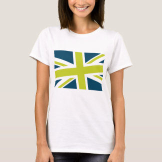 Union Flag Women's Shirt (Navy/Lime) CUSTOMIZABLE