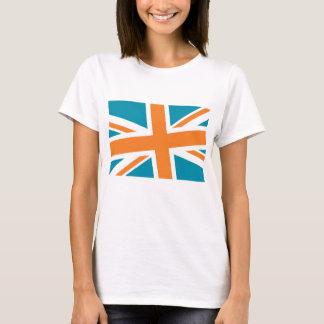 Union Flag Women's Shirt (Teal/Orange) CUSTOMIZE