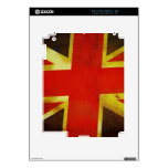 Union Flag Worn Design Decals For iPad 2