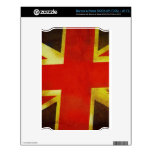 Union Flag Worn Design Decals For The NOOK