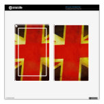 Union Flag Worn Design Kindle Fire Decal
