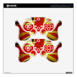 Union Flag Worn Design PS3 Controller Skin