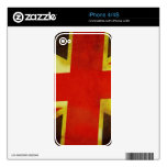 Union Flag Worn Design Skins For The iPhone 4S