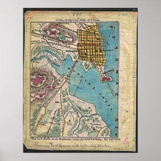Union fortifications surrounding Alexandria, Va Print