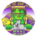Union Frankenstein Classic Round Sticker