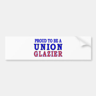 UNION GLAZIER BUMPER STICKER