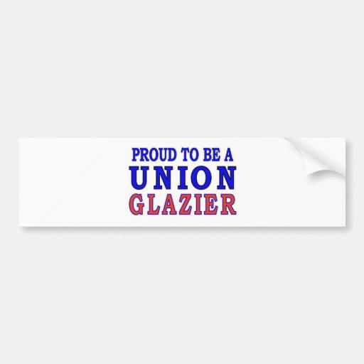 UNION GLAZIER BUMPER STICKERS