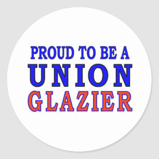 UNION GLAZIER CLASSIC ROUND STICKER