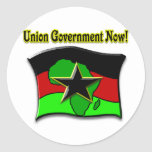 Union Government Now! Classic Round Sticker