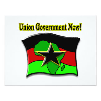 Union Government Now! 4.25x5.5 Paper Invitation Card