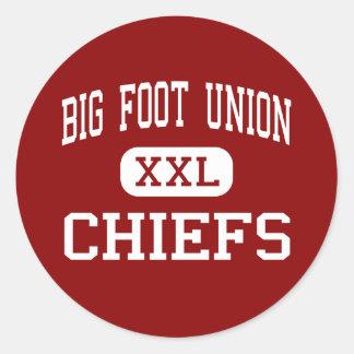 Unión grande del pie - jefes - alta - Walworth Etiqueta Redonda