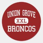 Union Grove - Broncos - High - Union Grove Classic Round Sticker