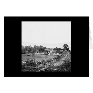 Union Headquarters in Gettysburg 1863 Card
