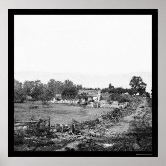 Union Headquarters in Gettysburg 1863 Print