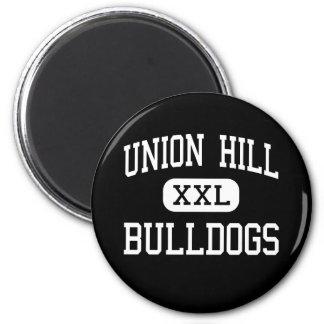 Union Hill - Bulldogs - High School - Gilmer Texas 2 Inch Round Magnet