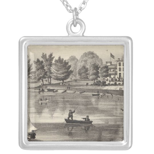 Union House, Squan, NJ Silver Plated Necklace