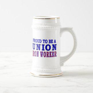UNION IRON WORKER 18 OZ BEER STEIN