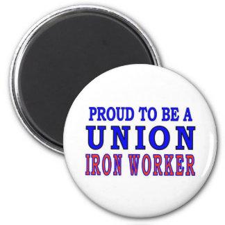 UNION IRON WORKER 2 INCH ROUND MAGNET