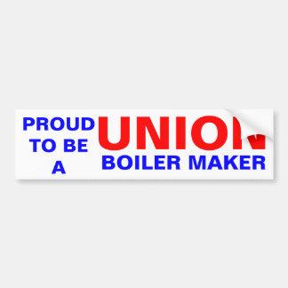 UNION IRON WORKER BUMPER STICKER