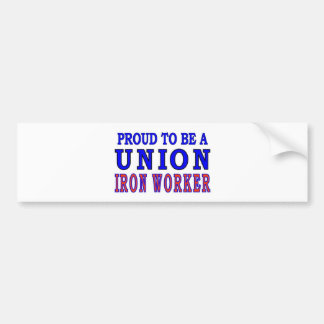 UNION IRON WORKER BUMPER STICKER