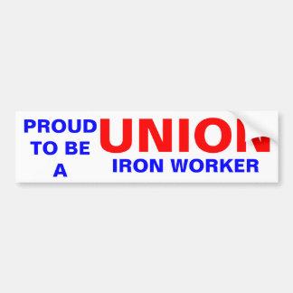 UNION IRON WORKER BUMPER STICKERS