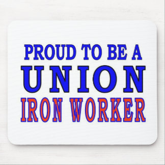 UNION IRON WORKER MOUSE PAD