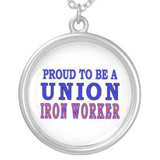 UNION IRON WORKER ROUND PENDANT NECKLACE