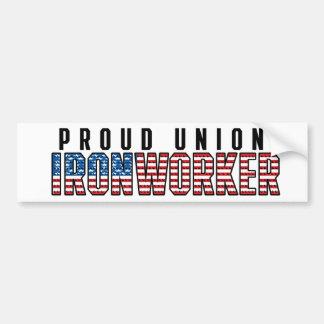 Union Ironworker Bumper Sticker