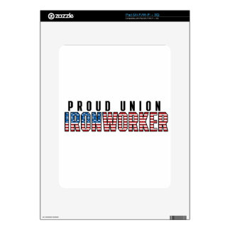 Union Ironworker Decal For iPad