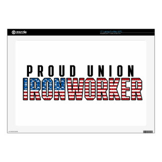 """Union Ironworker Decals For 17"""" Laptops"""